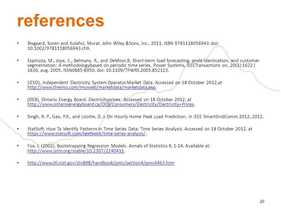 references Bisgaard, Soren and Kulahci, Murat. John Wiley &Sons, Inc., 2011.