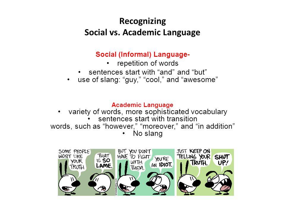 Recognizing Social vs.