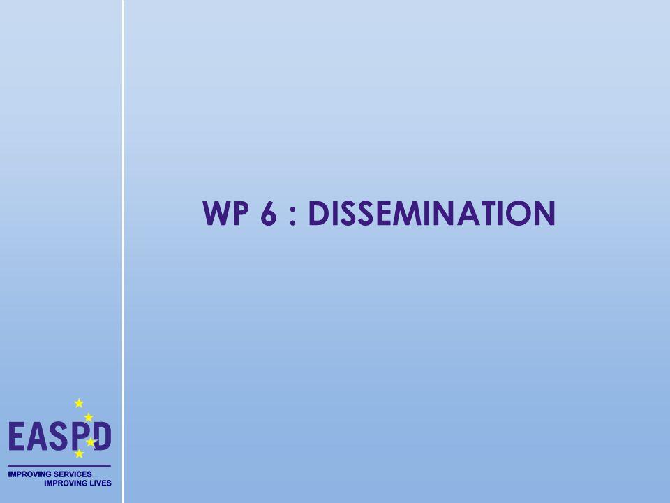 WP 6 : DISSEMINATION