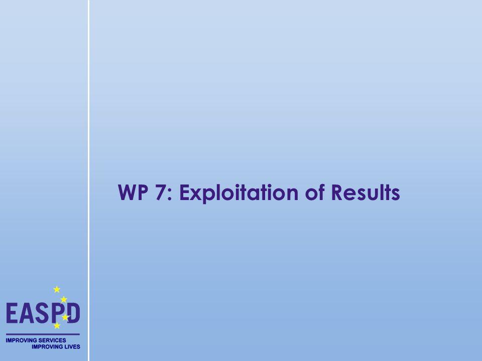WP 7: Exploitation of Results