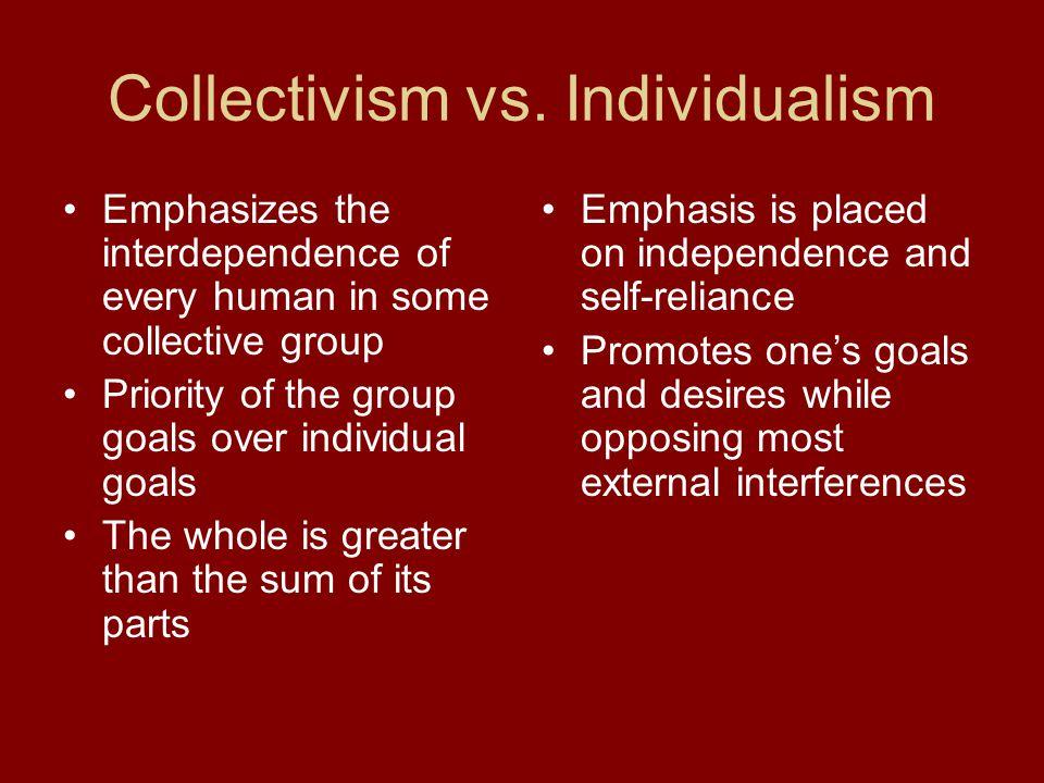 Collectivism vs.