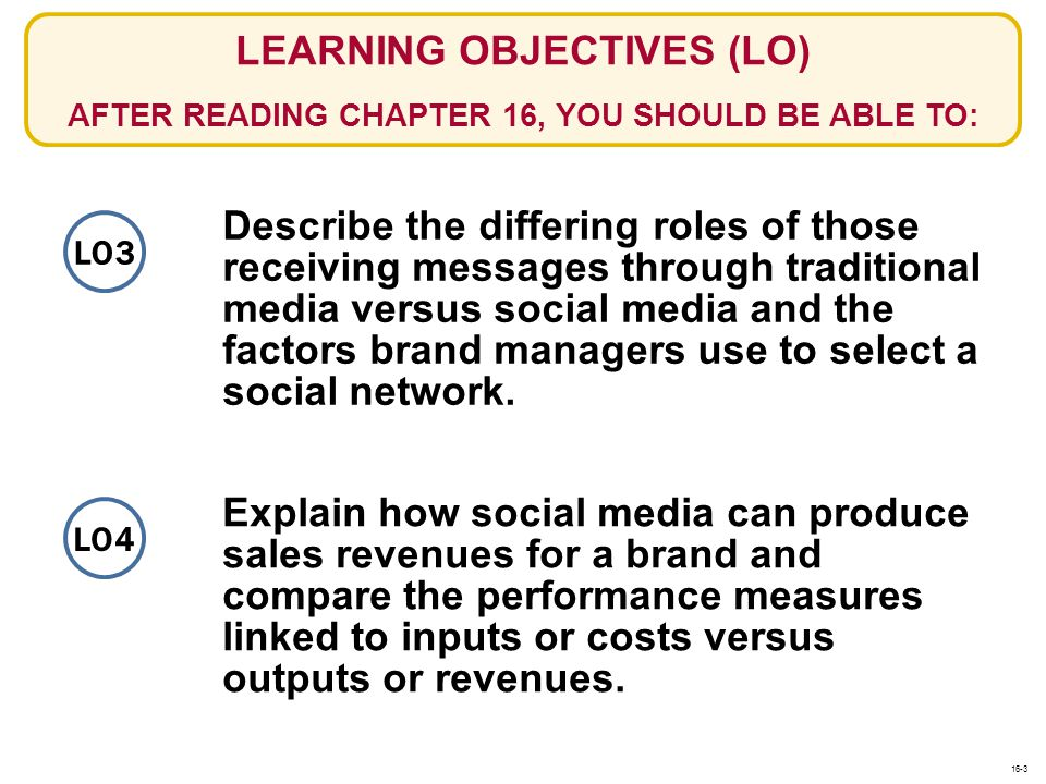 Describe the differing roles of those receiving messages through traditional media versus social media and the factors brand managers use to select a
