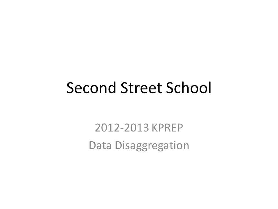 Second Street School 2012-2013 KPREP Data Disaggregation