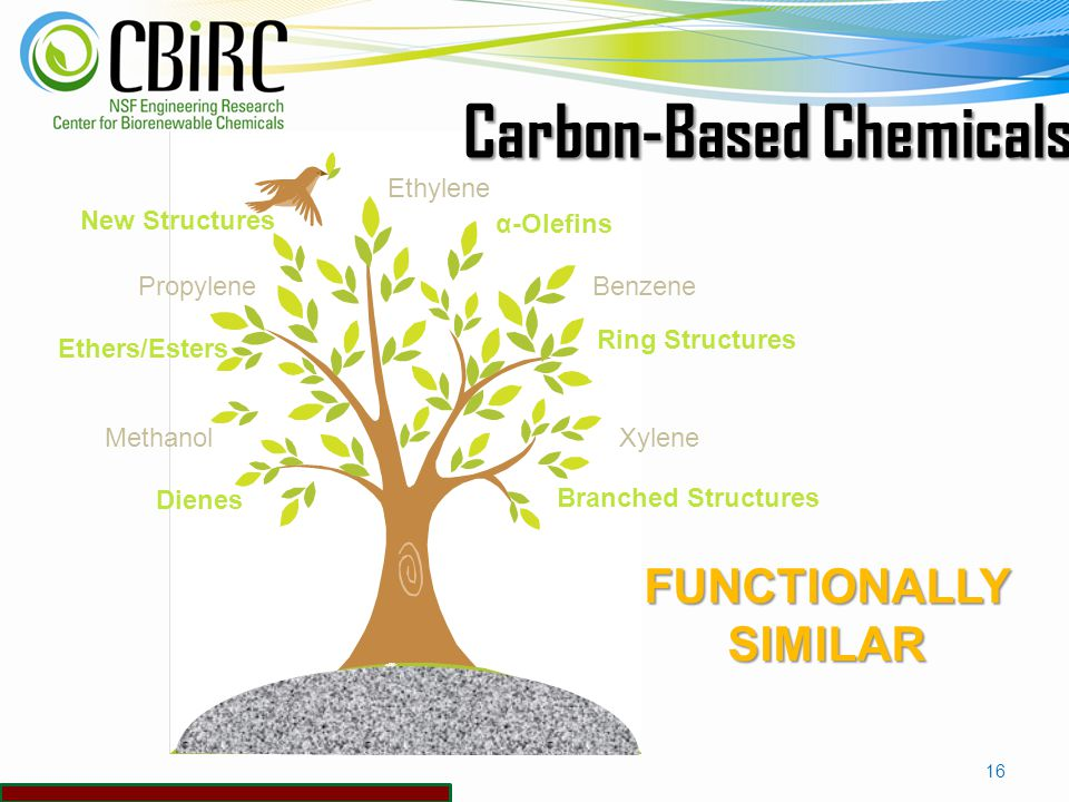 Fuel and Chemicals Biorenewable Chemicals Fossil Carbon ProcessingIndustry Renewable Carbon 15