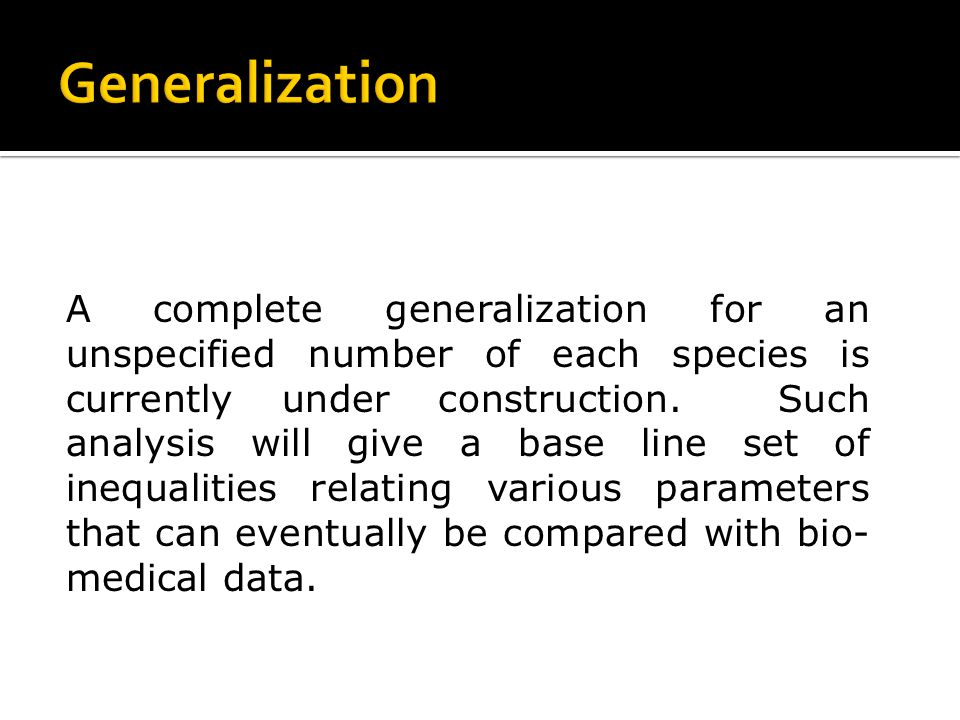A complete generalization for an unspecified number of each species is currently under construction.