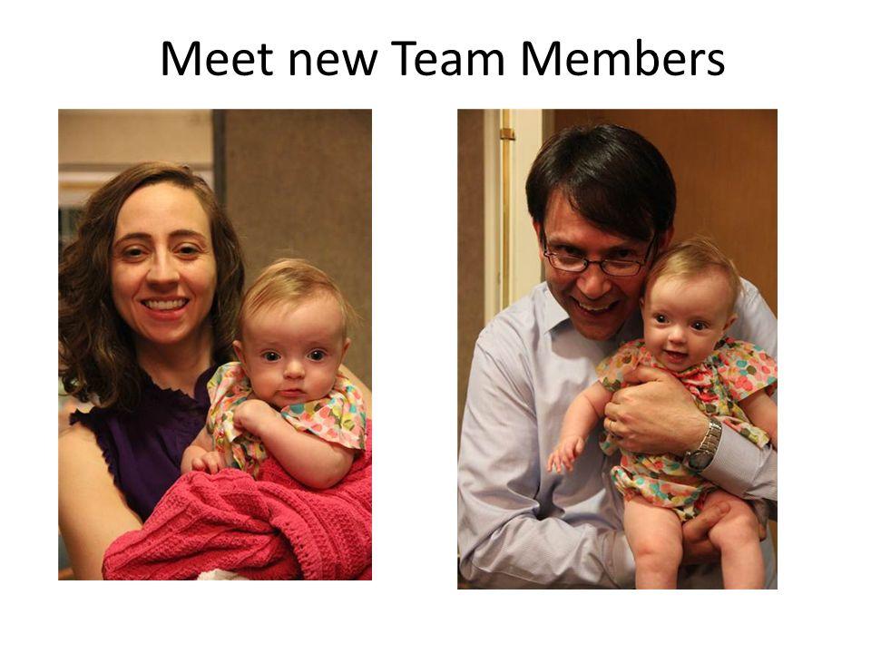 Meet new Team Members
