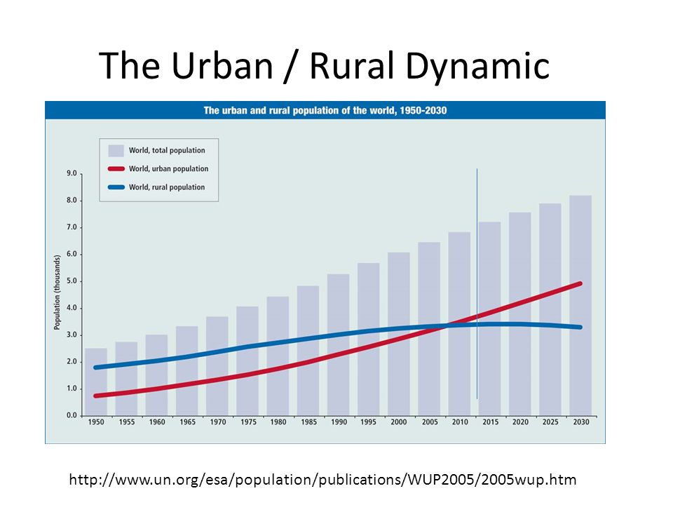 The Urban / Rural Dynamic http://www.un.org/esa/population/publications/WUP2005/2005wup.htm