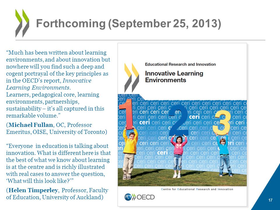 Forthcoming (September 25, 2013) 17 Much has been written about learning environments, and about innovation but nowhere will you find such a deep and