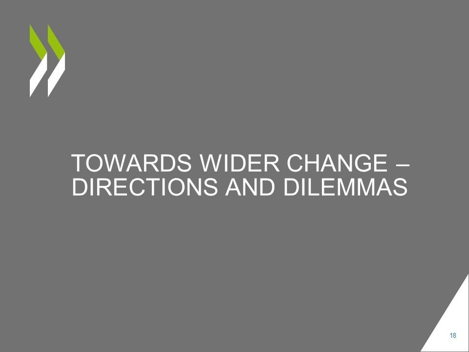 TOWARDS WIDER CHANGE – DIRECTIONS AND DILEMMAS 18