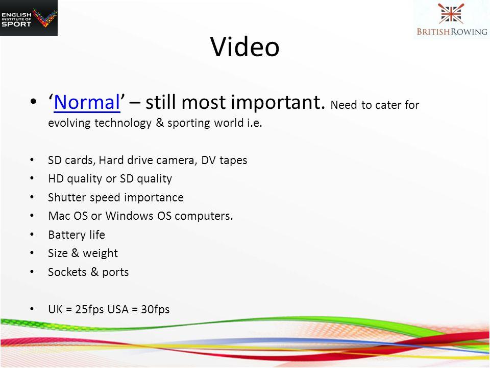 Video Normal – still most important.
