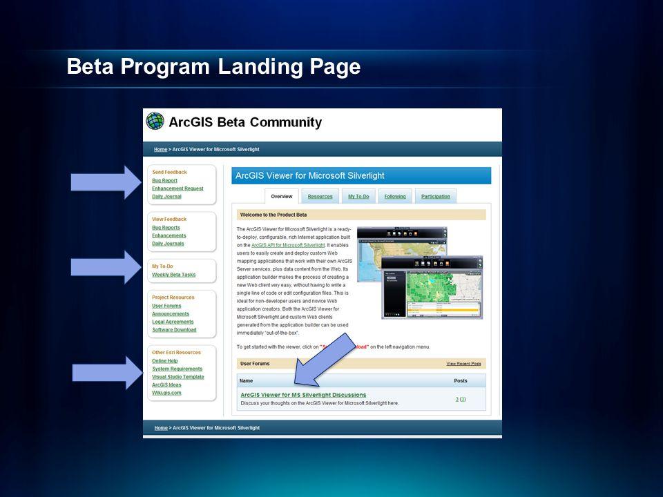 Beta Program Landing Page