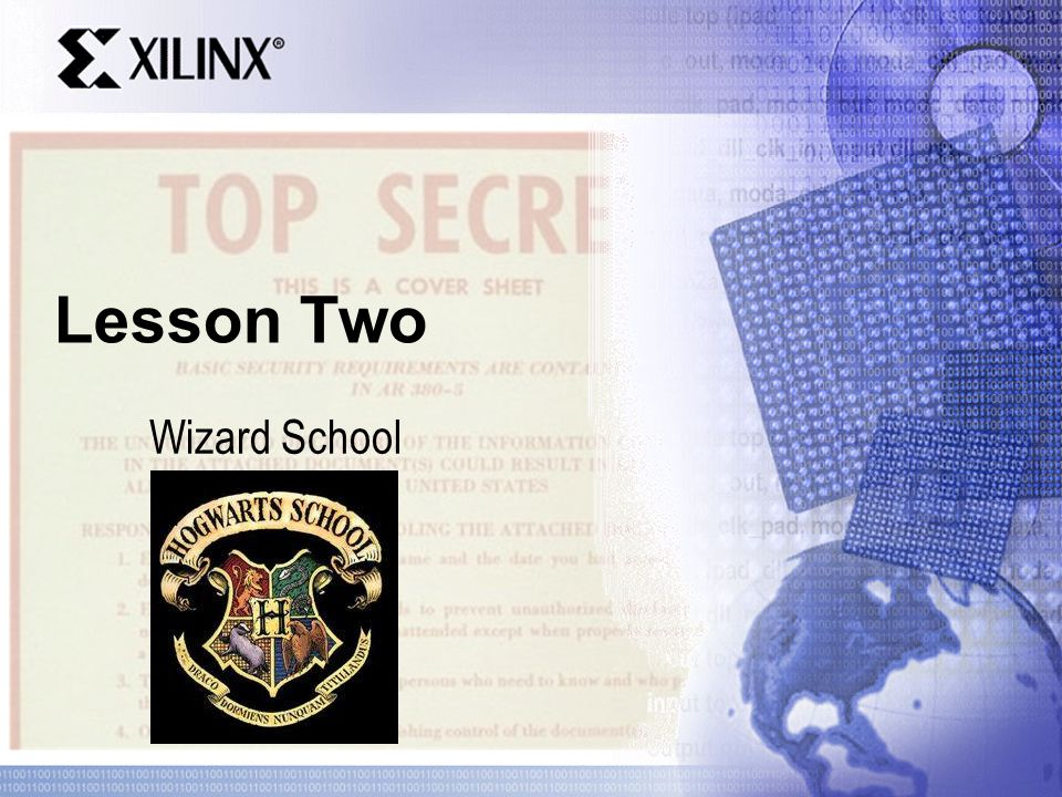 Lesson Two Wizard School