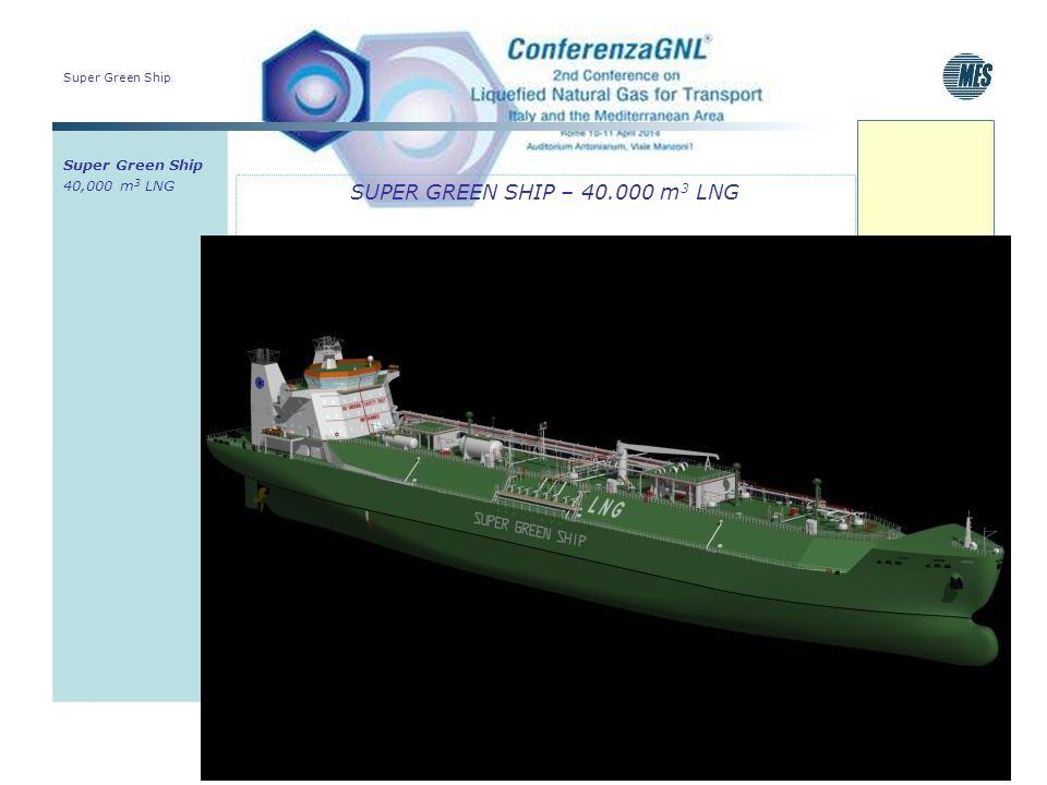 Super Green Ship SUPER GREEN SHIP – 40.000 m 3 LNG Super Green Ship 40,000 m 3 LNG