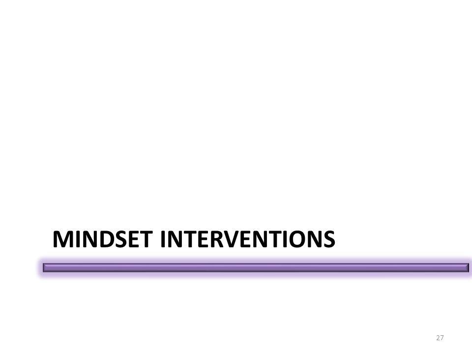 MINDSET INTERVENTIONS 27