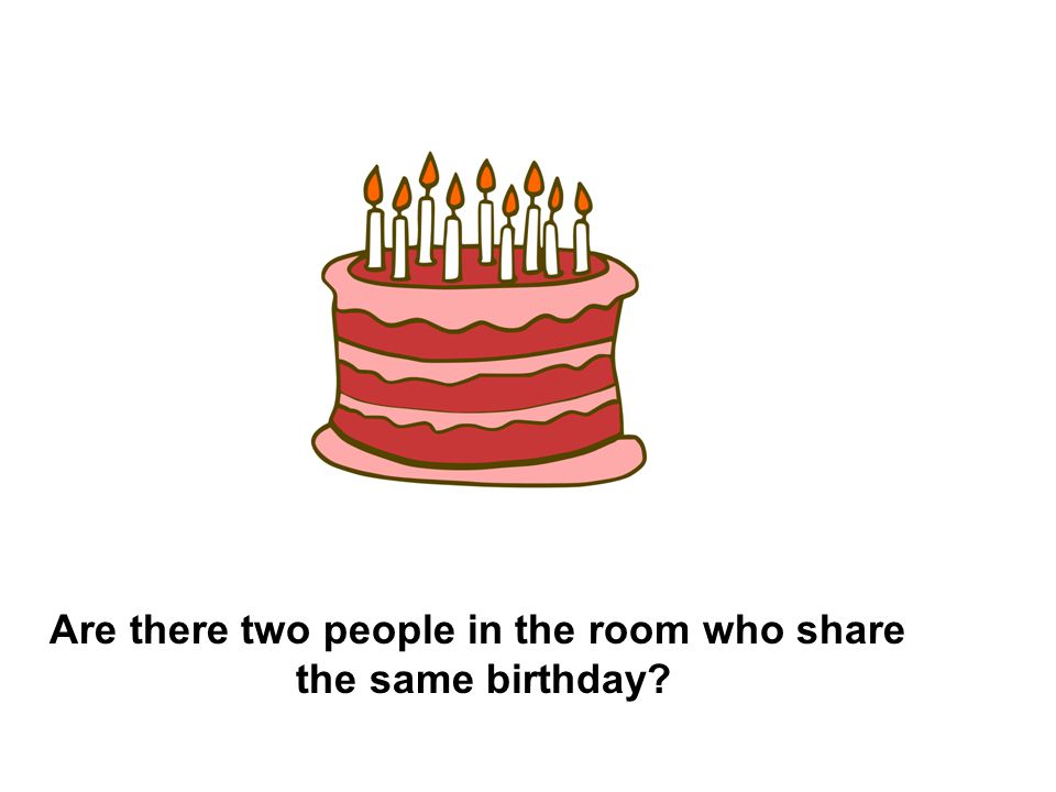 Are there two people in the room who share the same birthday