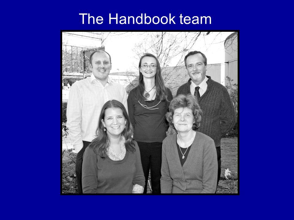 The Handbook team