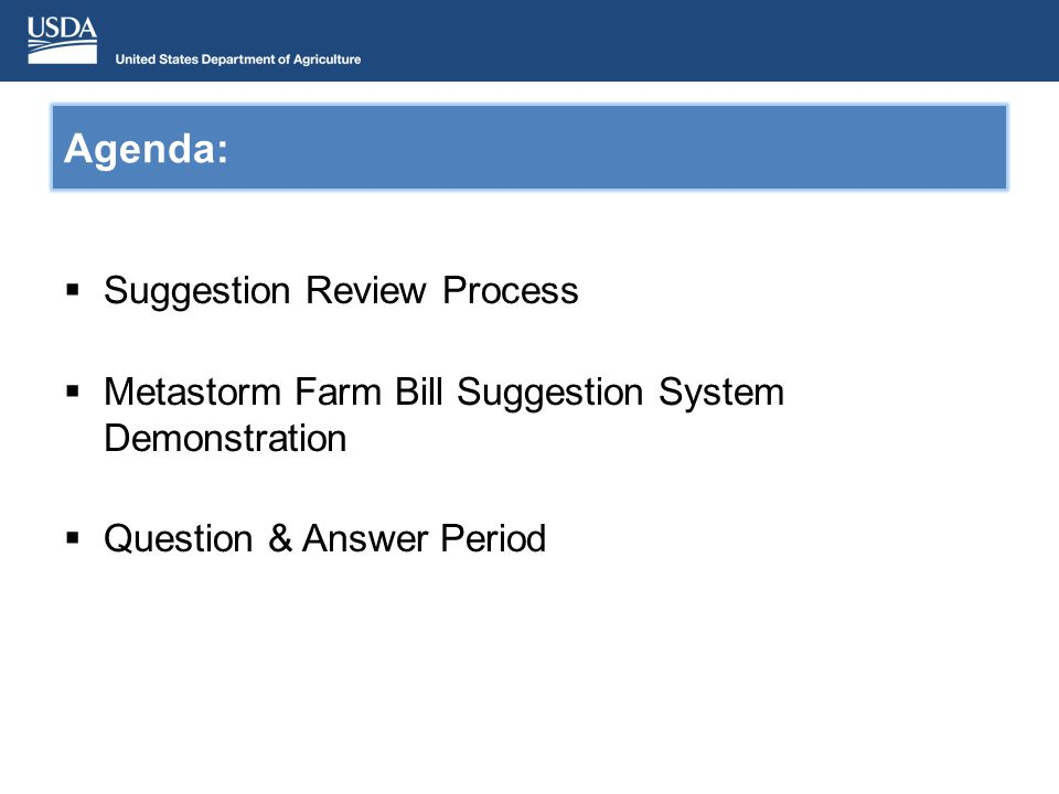 Farm Bill – Section 10201 APHIS Farm Bill 10201 Website: www.aphis.usda.gov/section10201 Be sure to review: FY 2014 Annual Program Guidelines FY 2014 Frequently asked Questions document FY 2014 Reviewer Help Session webinar slides