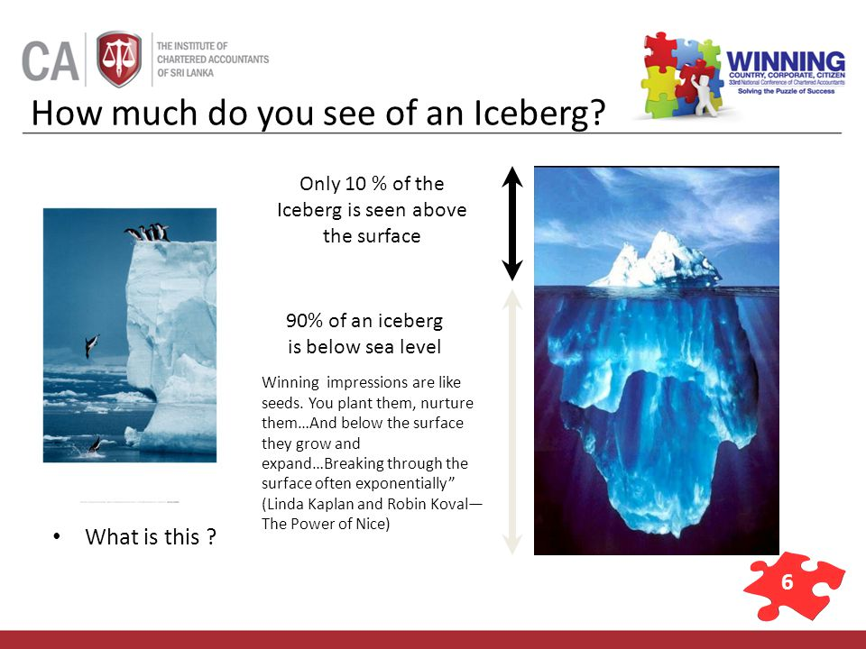 7 Knowledge and Skills Known to others Unknown to others ATTITUDE 10% 90% Behavior Ethics and Beliefs Motives and Standards Values and Judgments The Iceberg Phenomenon applied to us…