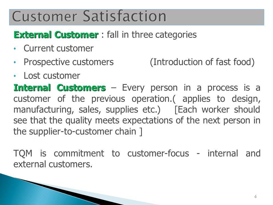 Inputs from external customers Internal customers Outputs to external customers