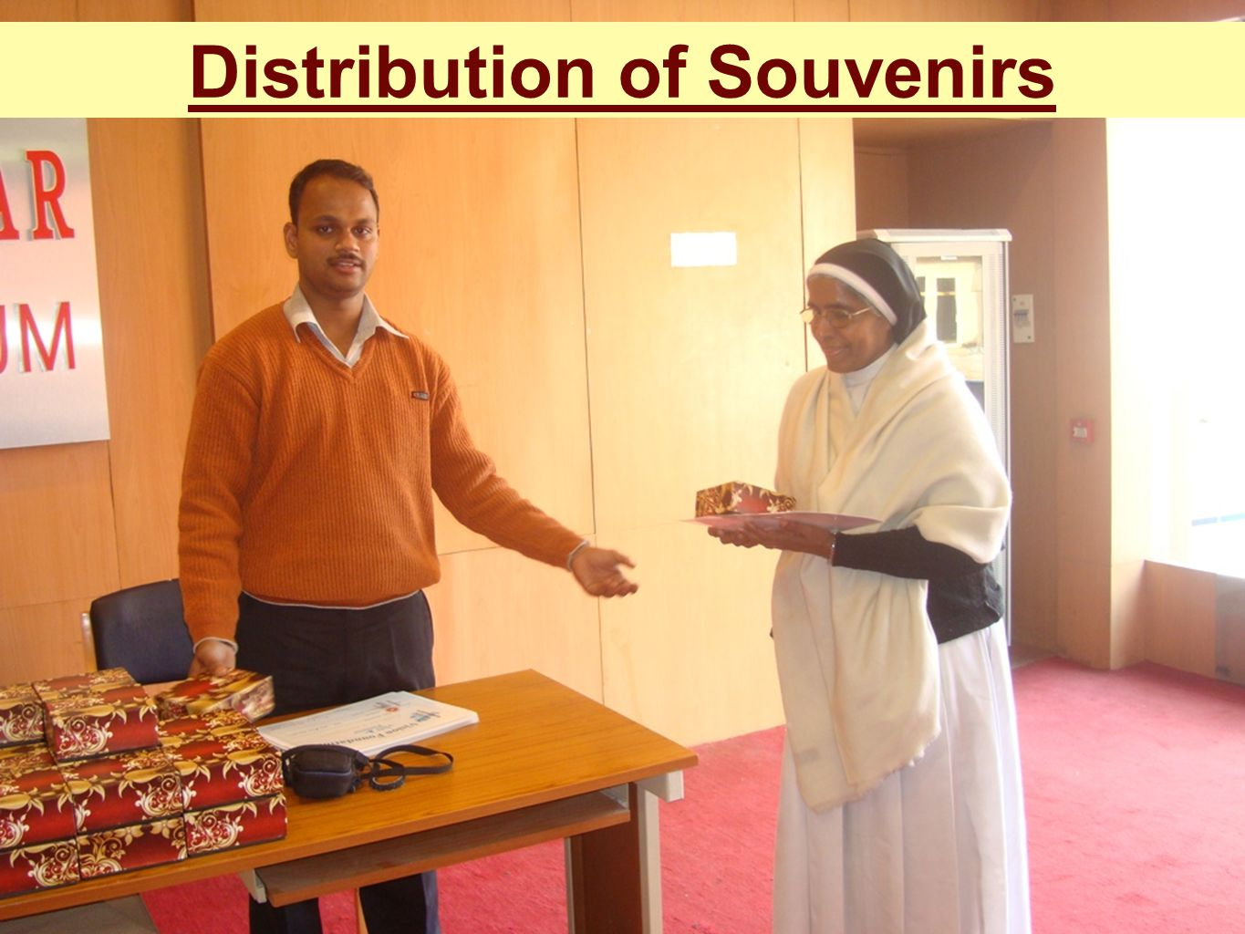 Distribution of Souvenirs