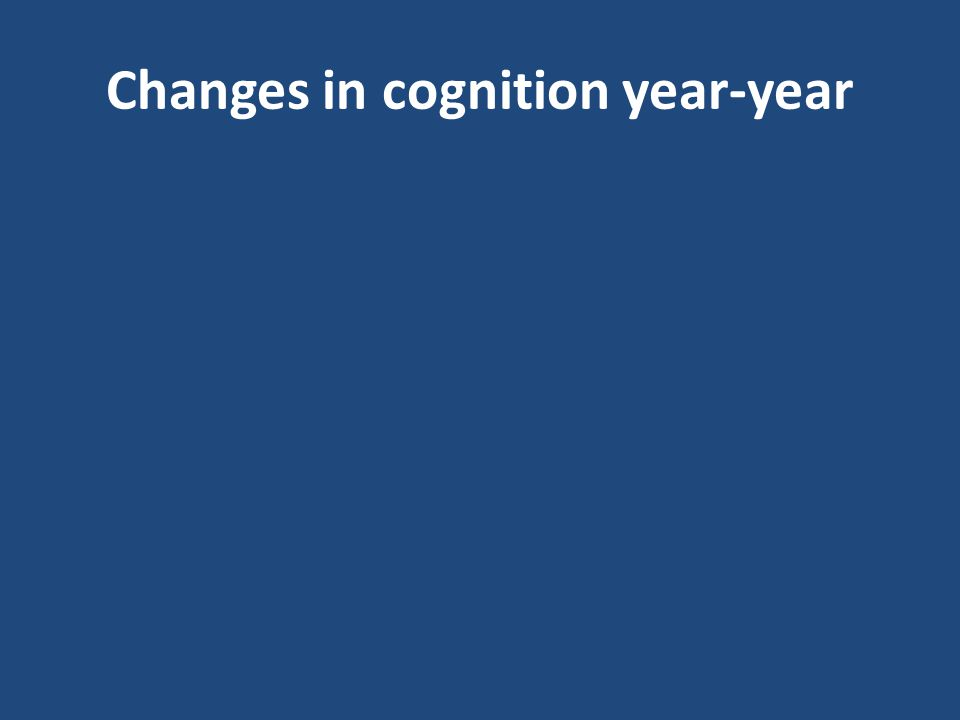 Changes in cognition year-year