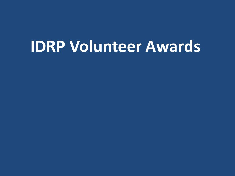 IDRP Volunteer Awards