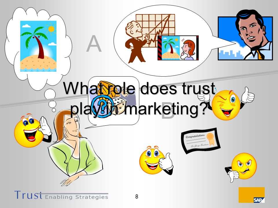 8 A B What role does trust play in marketing