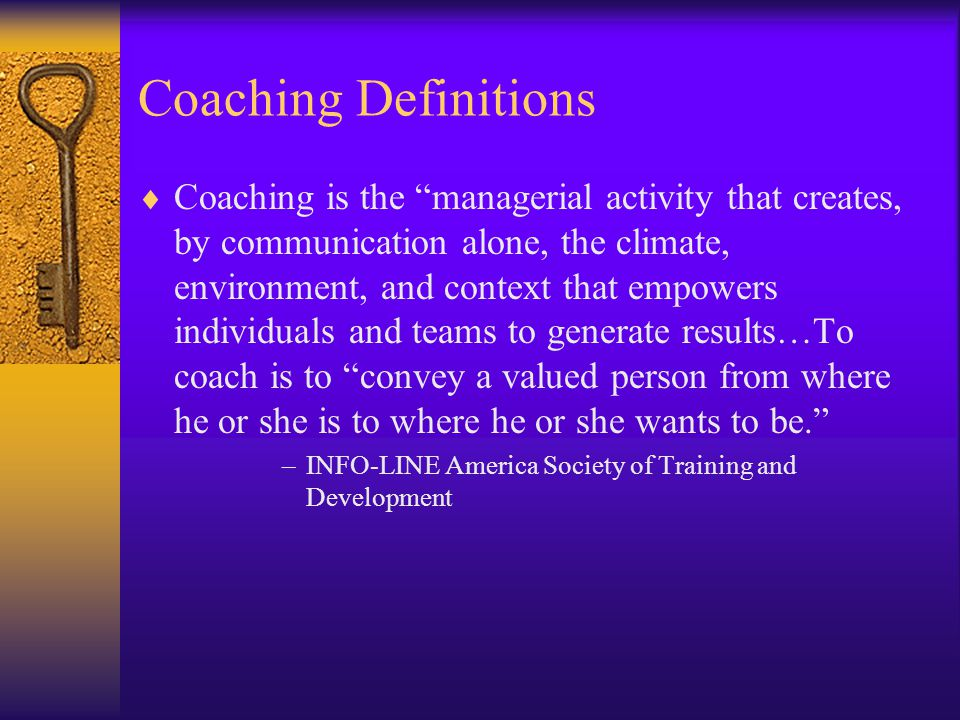 Welcome to Effective Coaching!