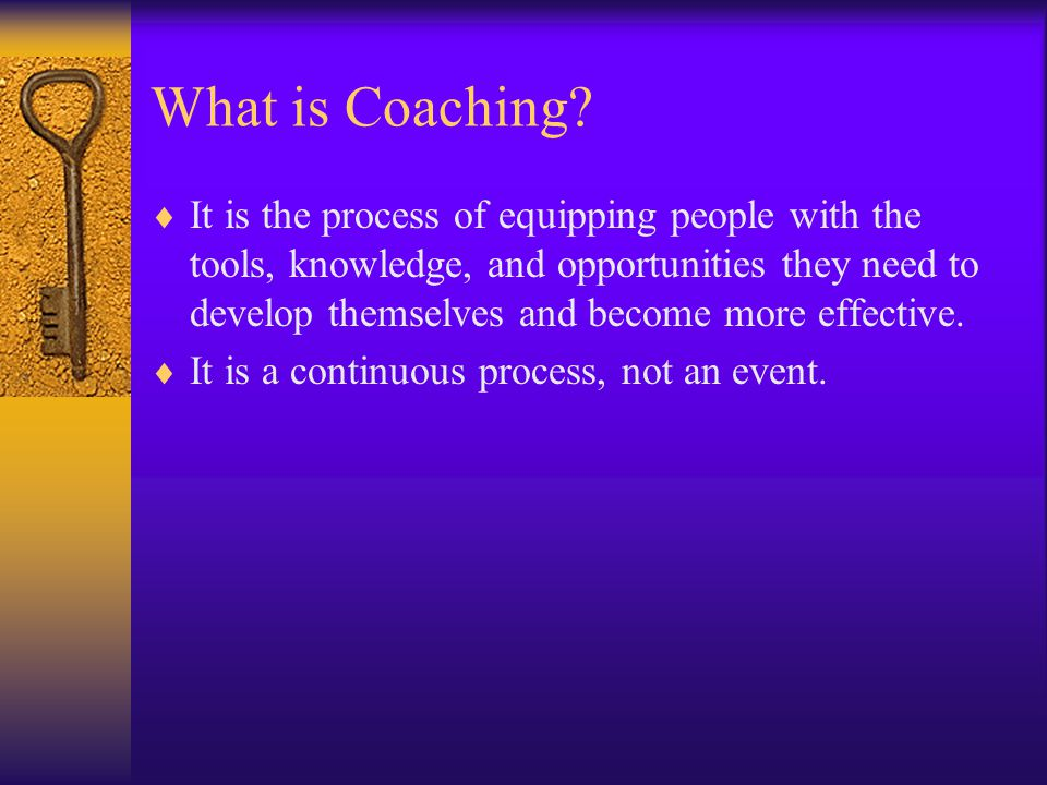 A Great Coaching Environment Feedback is the breakfast of champions! Ken Blanchard