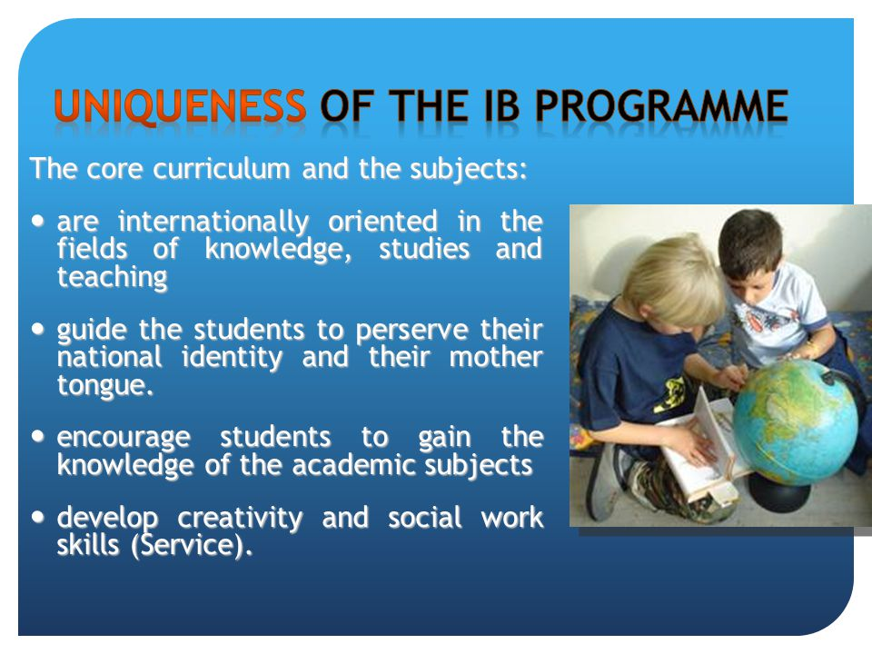 The core curriculum and the subjects: are internationally oriented in the fields of knowledge, studies and teaching are internationally oriented in th