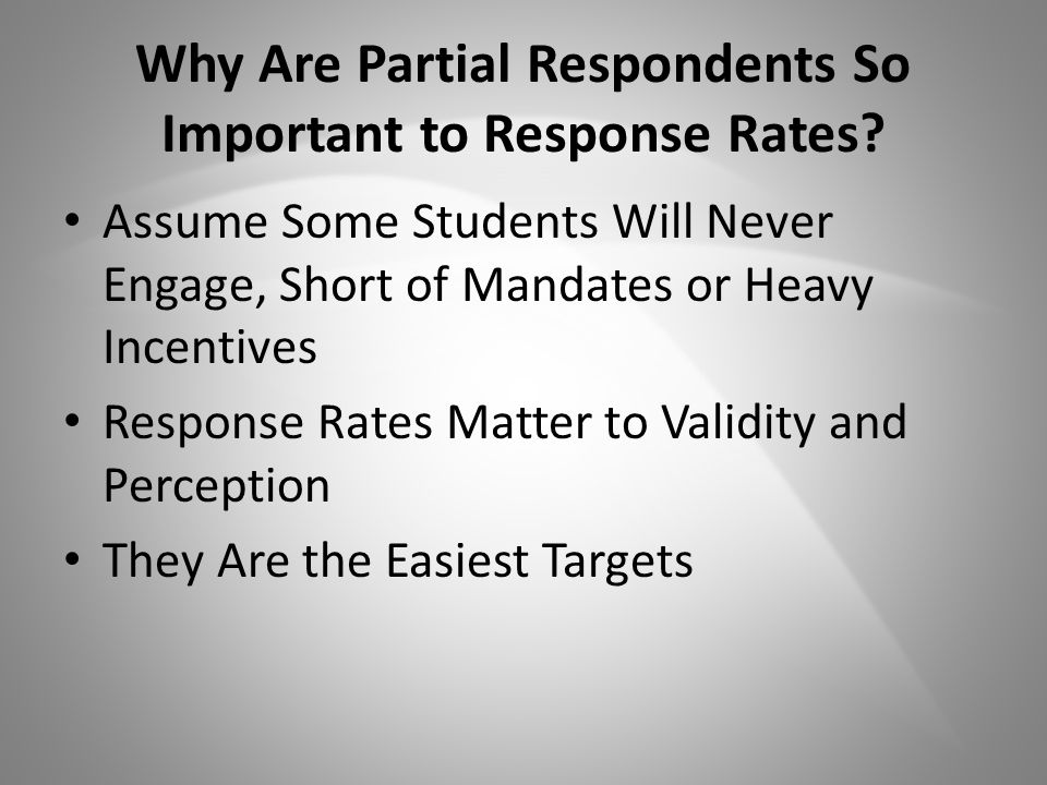 Why Are Partial Respondents So Important to Response Rates.