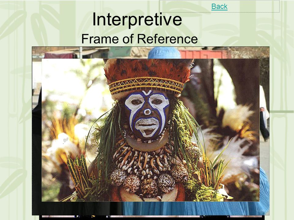 Interpretive Frame of Reference Back