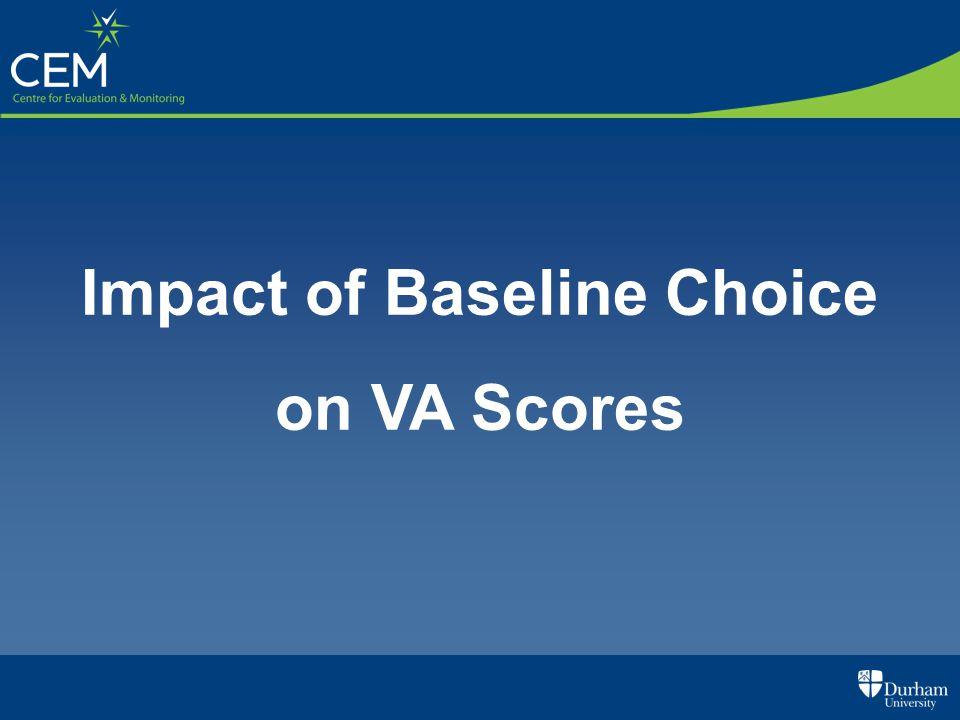 Impact of Baseline Choice on VA Scores