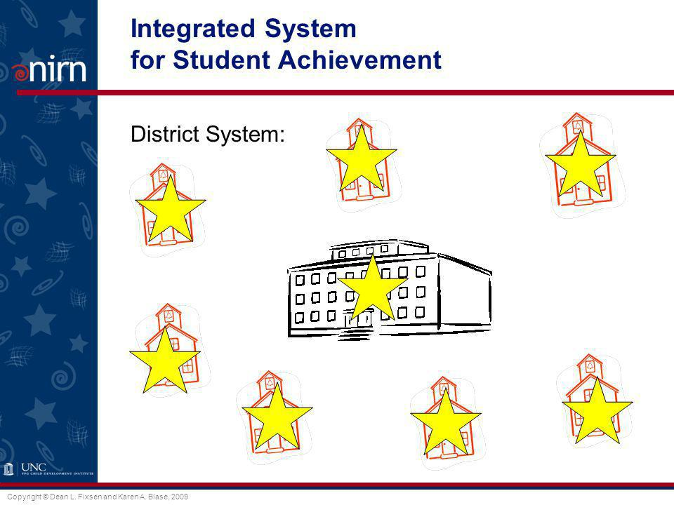 Integrated System for Student Achievement District System:
