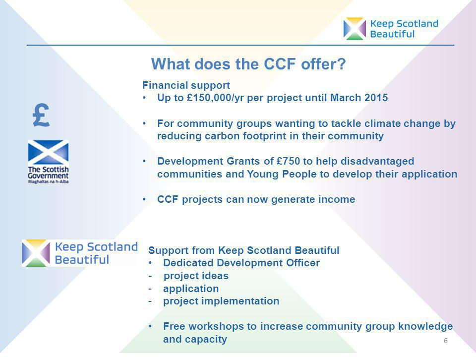_________________________________________________________________ What does the CCF offer.
