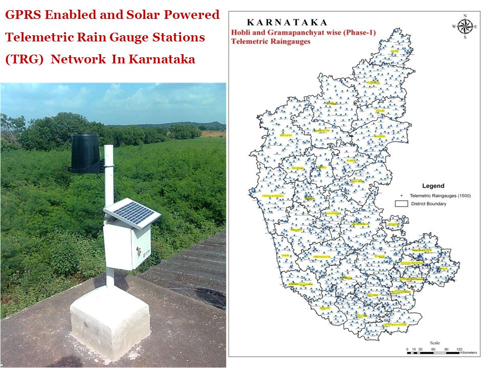 GPRS Enabled and Solar powered Telemetric Weather Stations (TWS) network in Karnataka