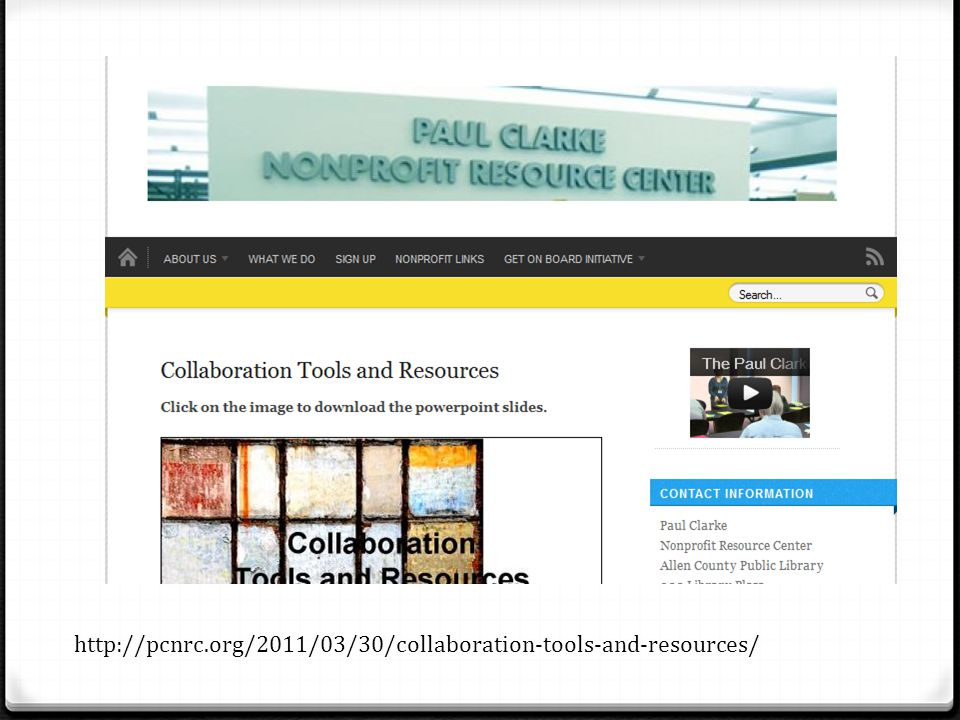 http://pcnrc.org/2011/03/30/collaboration-tools-and-resources/
