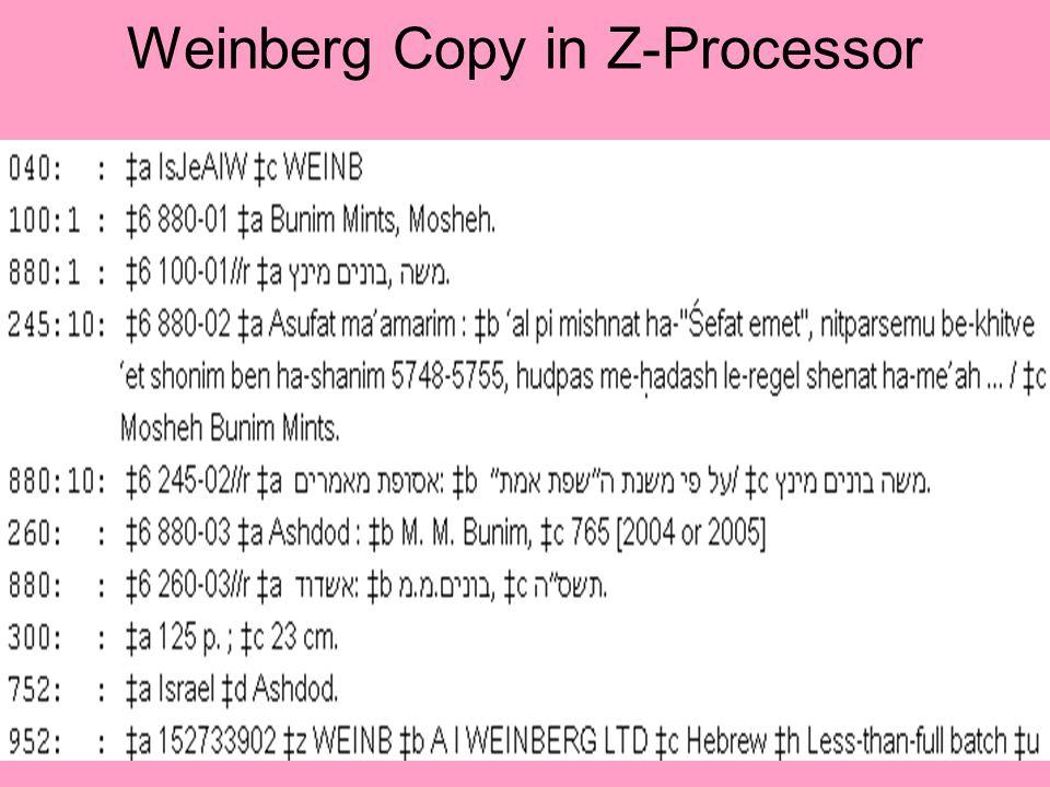 64 Weinberg Copy in Z-Processor
