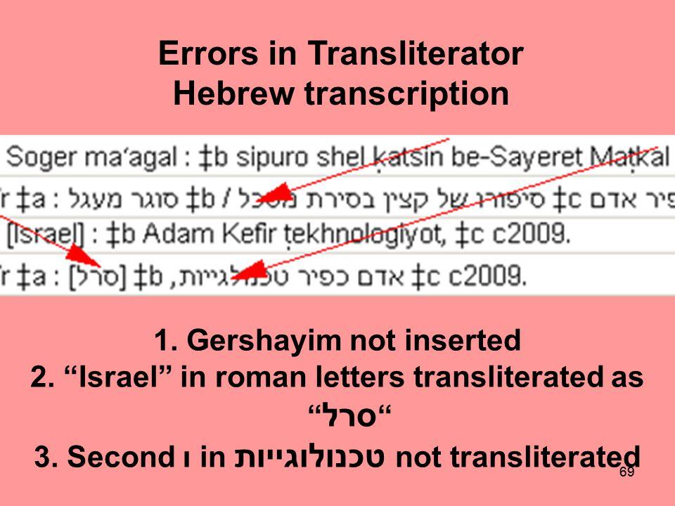 68 Transliterator
