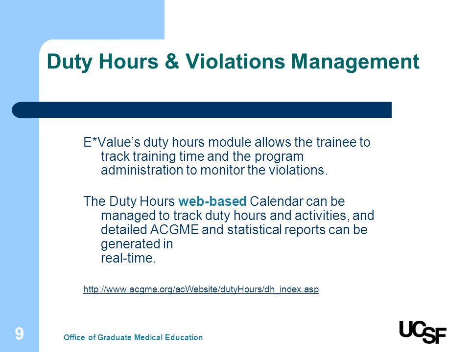 10 Duty Hours Violations Rules Office of Graduate Medical Education Duty Hours Violations Rule 1.
