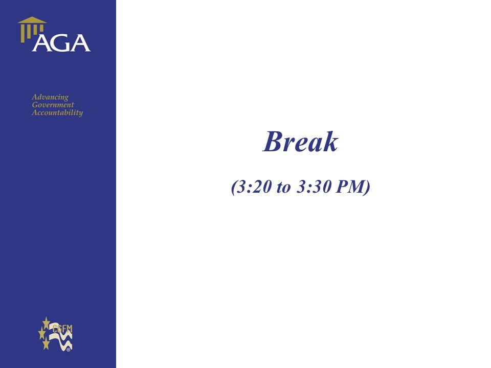 Break (3:20 to 3:30 PM)