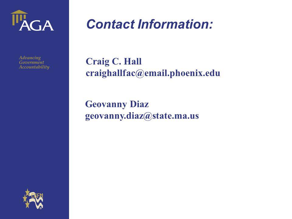 General chart Contact Information: Craig C.