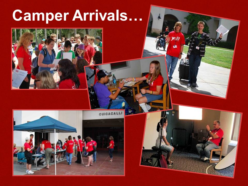 Camper Arrivals…