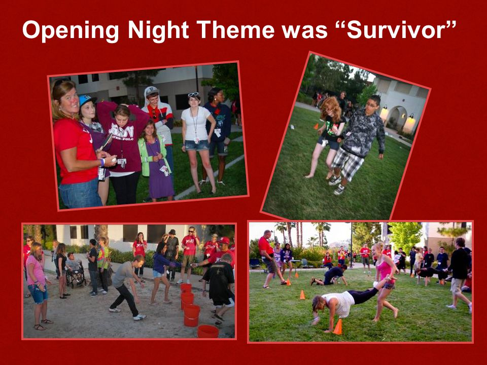 Opening Night Theme was Survivor