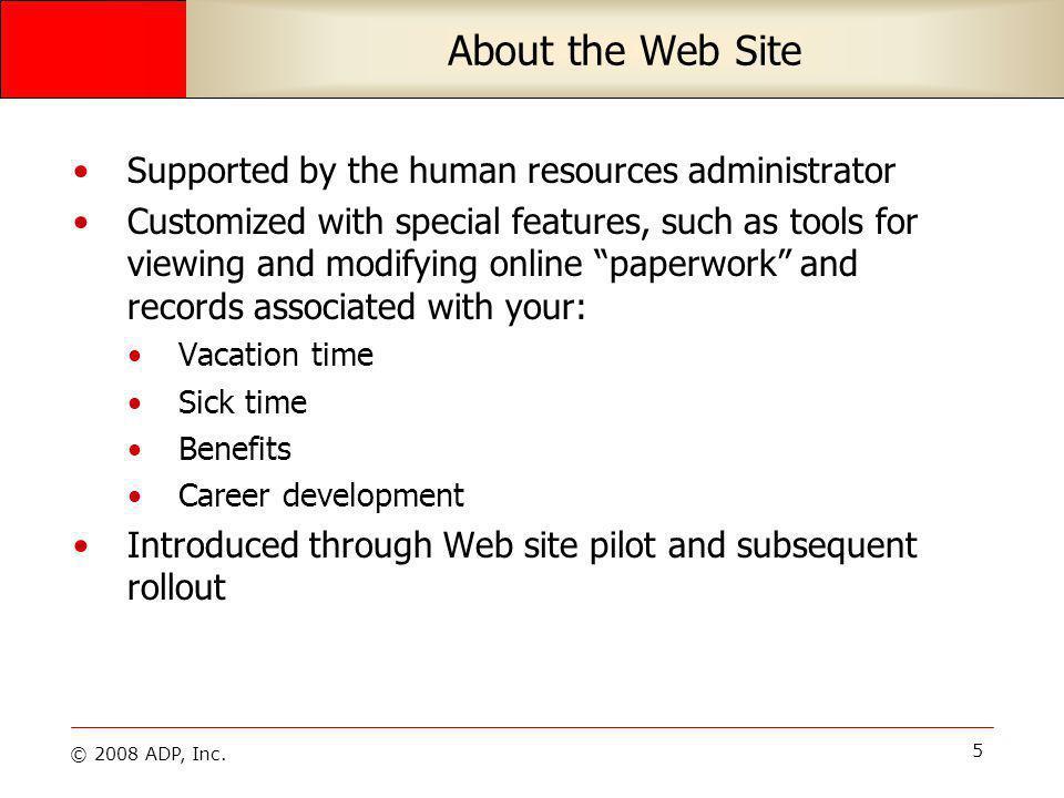 © 2008 ADP, Inc. 26 Edit Addresses