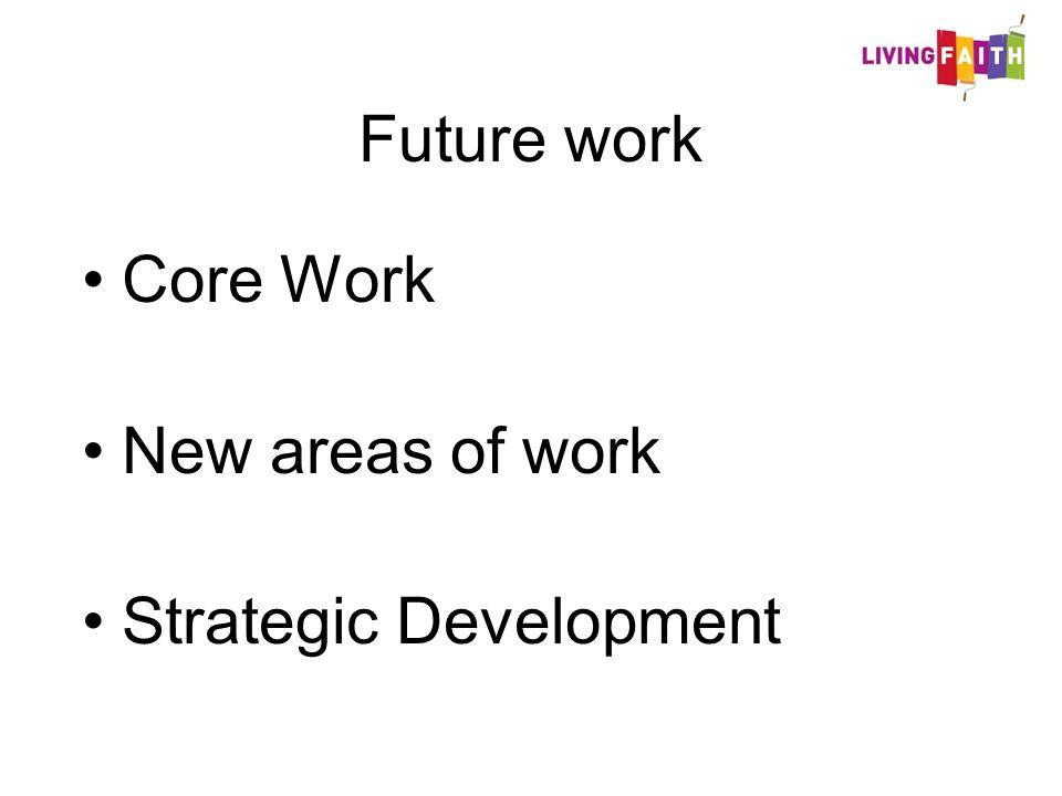 Future work Core Work New areas of work Strategic Development