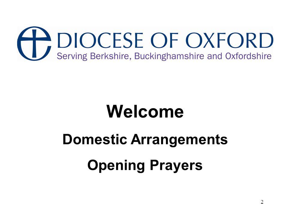2 Welcome Domestic Arrangements Opening Prayers