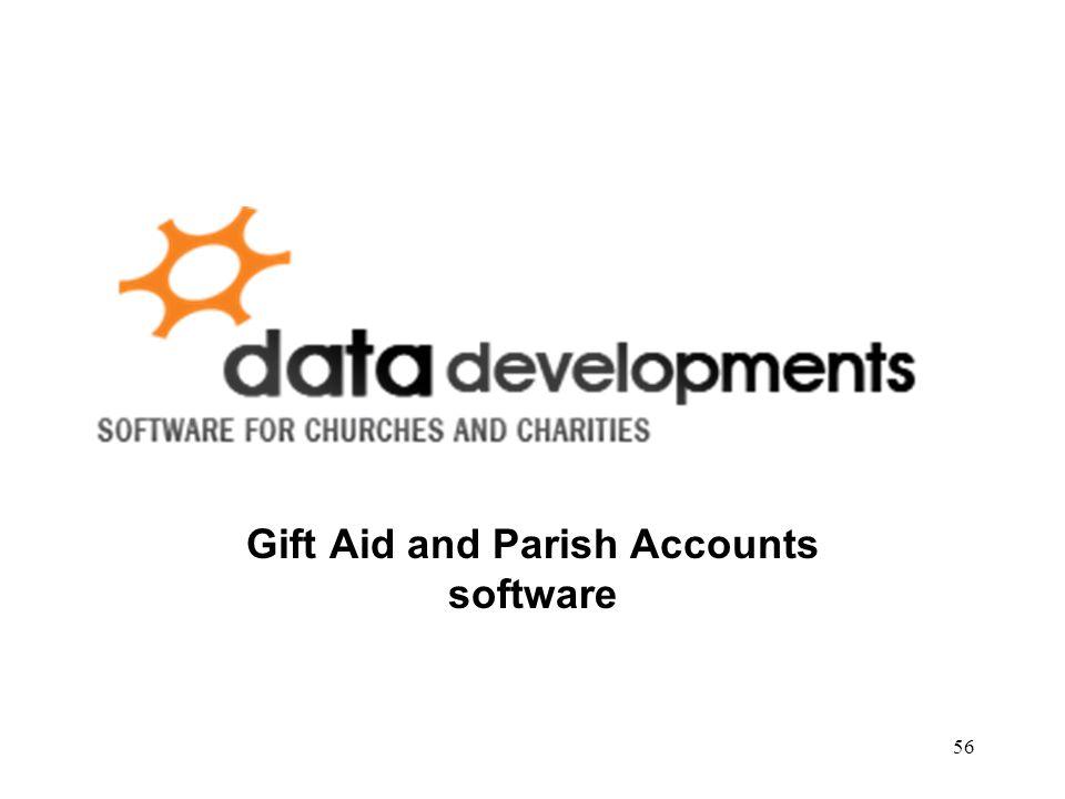 Gift Aid and Parish Accounts software 56