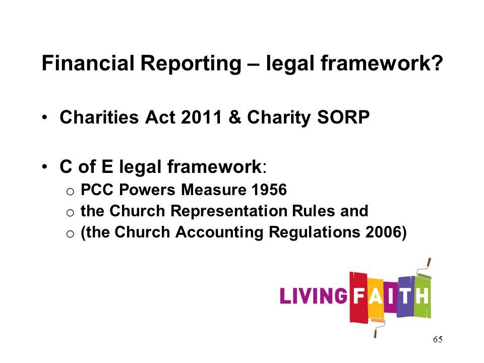 Financial Reporting – legal framework.