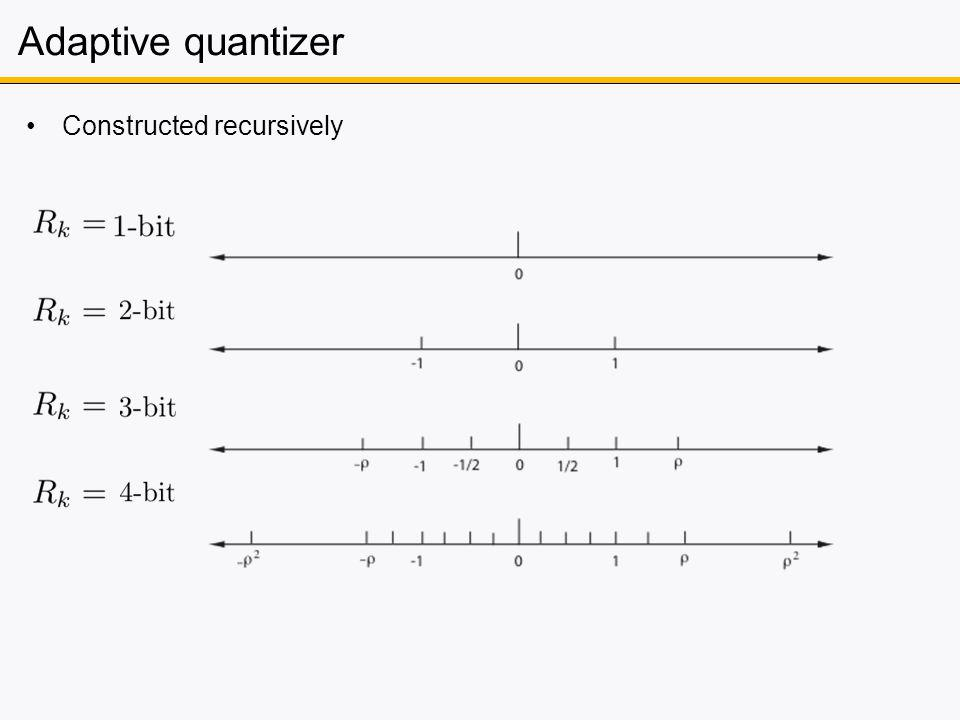 Adaptive quantizer Constructed recursively